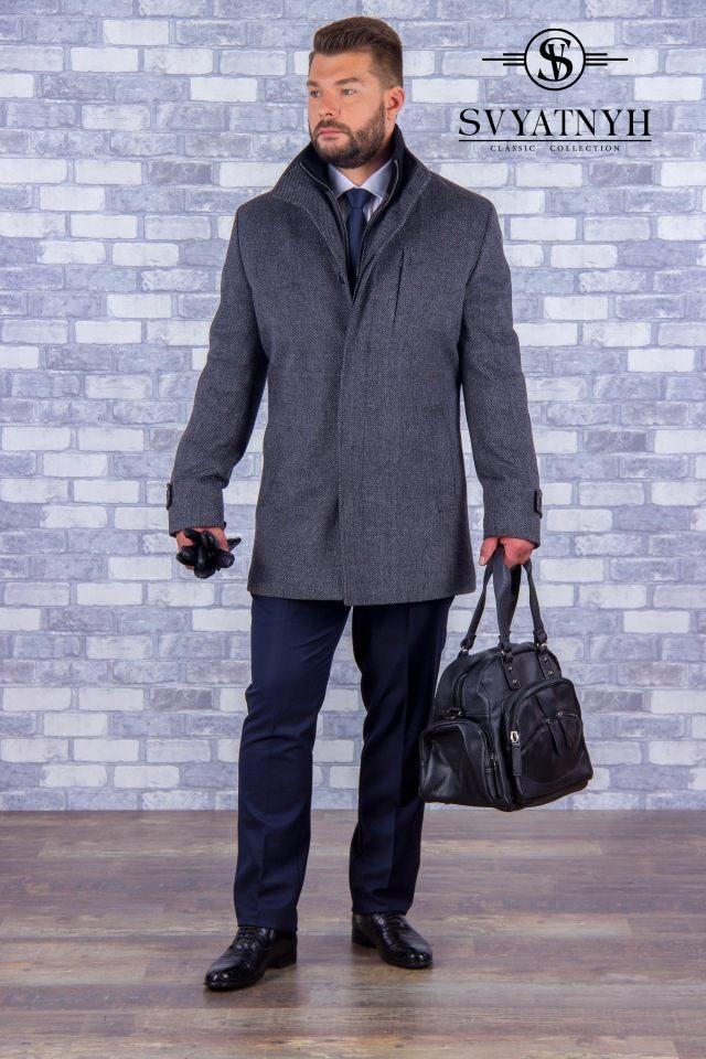 Мужское пальто с шерстью
