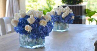 Композиции из голубых и синих цветов в интерьере